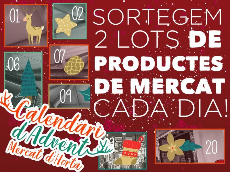 Torna el Calendari d'Advent del Mercat d'Horta
